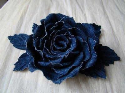 Denim Roses ~ ?: | DIY | Pinterest | Rose, Fabric flowers ...