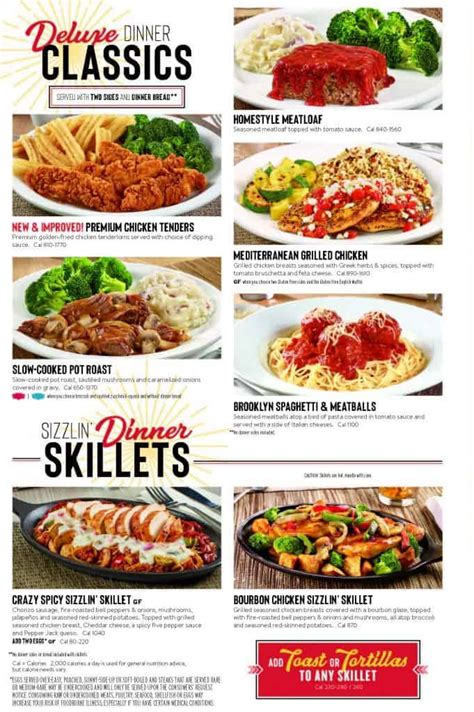 Denny s $2 $4 $6 $8 Menu, Including $4 All You Can Eat ...