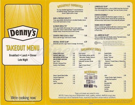 Denny s Menu   Anaheim   Dineries