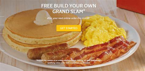 Denny s Online Orders Promotion: Free Grand Slam