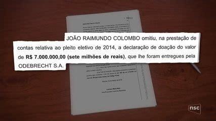 Denúncia da PGR contra Raimundo Colombo cita caixa 2 de R ...