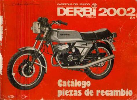 Derbi 2002 . Catálogo de piezas de recambio.   lamaneta
