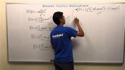 Derivada de una Función Trigonométrica  Parte 13 de 20 ...