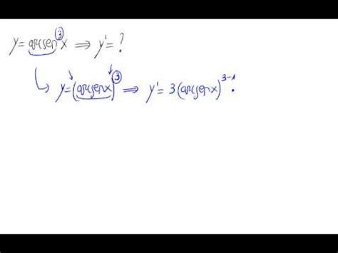 Derivada   Potencia de función trigonométrica inversa ...