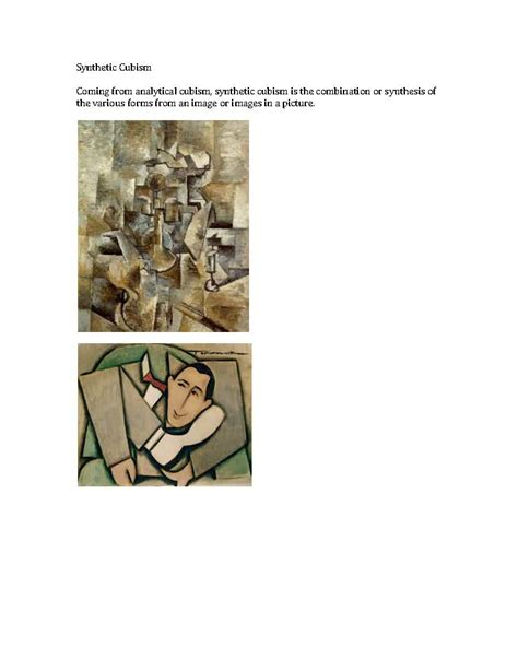 DES HIS F10   QUINN: Analytical and Synthetic Cubism