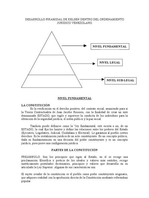 DESARROLLO PIRAMIDAL DE KELSEN DENTRO DEL ORDENAMIENTO ...
