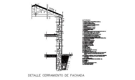 Descarga gratuita del Bloque AutoCAD: detalle fachada y ...