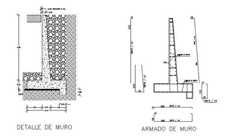 Descarga gratuita del Bloque AutoCAD: muro de contención