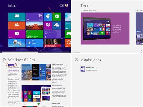 Descarga gratuita y en español de Windows 8.1