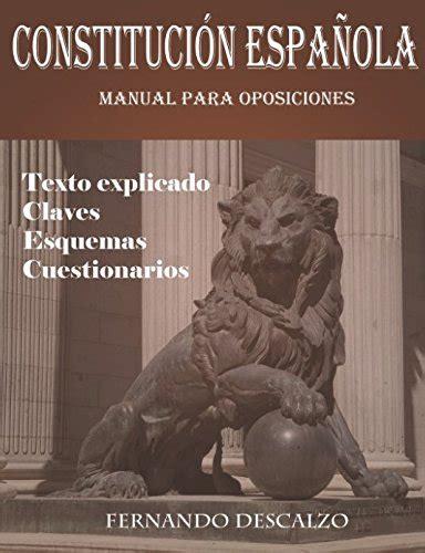 Descargar Constitución española   Manual para oposiciones ...