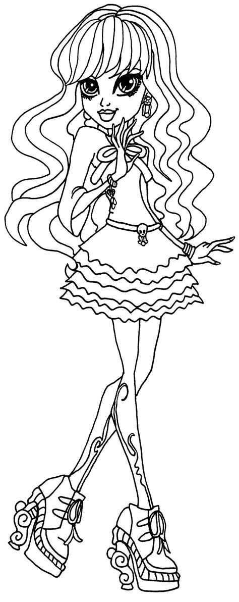 Descargar dibujos para colorear de Monster High, imprimir