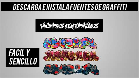 Descargar e Instalar Fuentes Tipo Graffiti Para Pc | Full ...