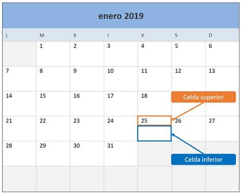 Descargar excel calendario 2019 | Calendario 2018 en Excel ...