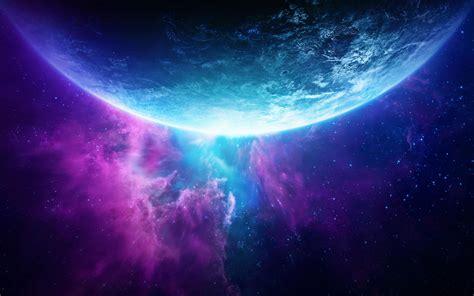 Descargar fondos de pantalla azul, planeta, galaxia ...