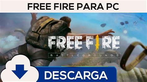 Descargar Free Fire Battlegrounds en Español para PC ...