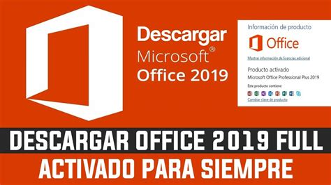 Descargar, Instalar Microsoft Office 2019 Full en Español ...