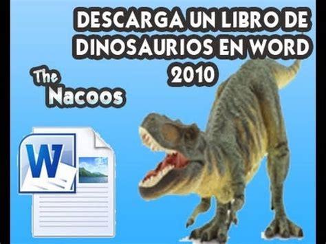 Descargar Libro de Dinosaurios en Word 2010 para que ...