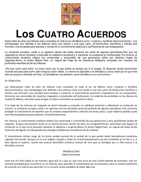 Descargar Libro Los Cuatro Acuerdos De Miguel Ruiz | Libro ...