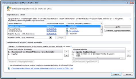 Descargar Paquete de Idiomas Office Español 2010 Gratis ...