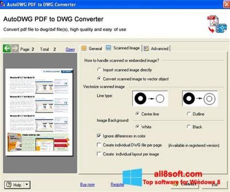 Descargar PDF to DWG Converter para Windows 8  32/64 bit ...