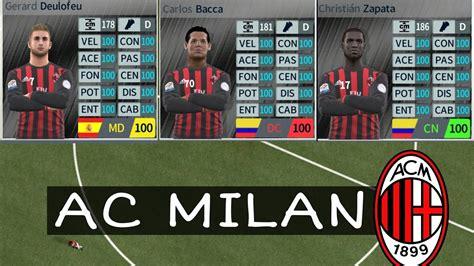 Descargar Plantilla: Del AC Milan+Dinero Infinito ...