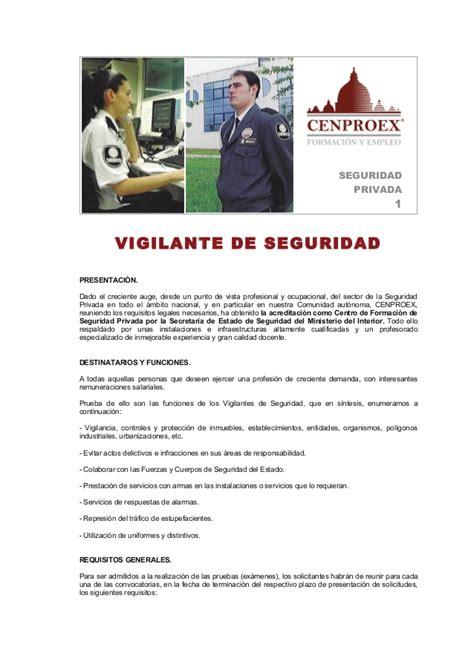 DESCARGAR TEMARIO VIGILANTE DE SEGURIDAD 2014 PDF