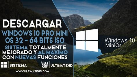 Descargar Windows 10 PRO MiniOs Full Español Para PC Ya ...