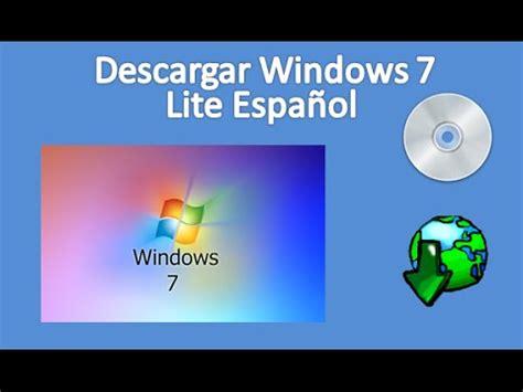 Descargar Windows 7 Lite Español 32 bits Mega  512 MB de ...