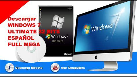descargar windows 7 ultimate ESPAÑOL full 1 link MEGA ...