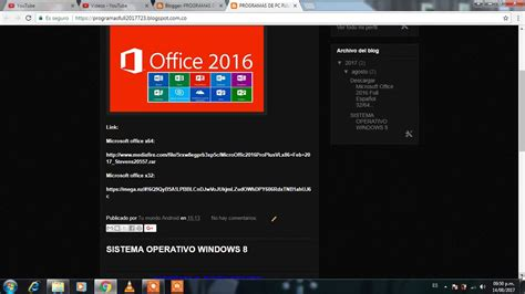 Descargar Windows 8.1 y paquete de Office 2016 full ...
