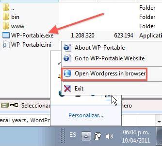 Descargar Wordpress portable para Windows 7, vista y xp ...