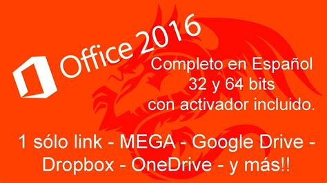 Descargar y Activar OFFICE 2016 en ESPAÑOL   YouTube