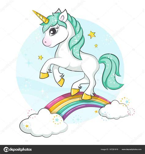 Descargue el vector de stock Pequeño pony. Lindo unicornio ...