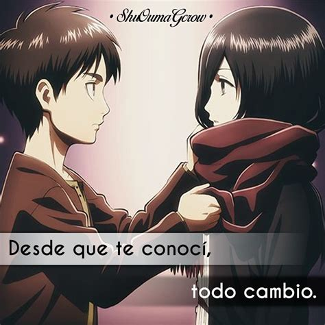 Desde que te conoci #ShuOumaGcrow #Anime #Frases_anime # ...