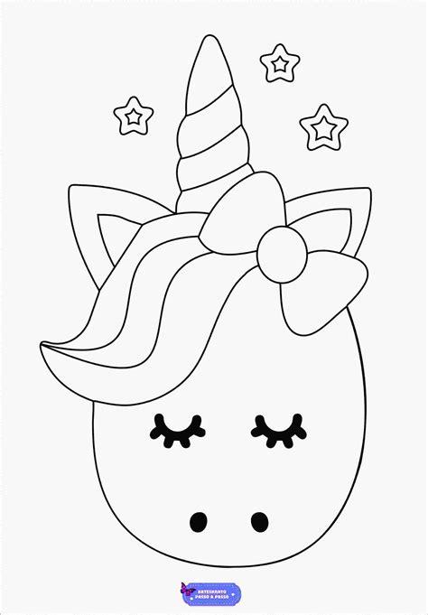 Desenhos de Unicórnio para Colorir, Pintar e Imprimir ...