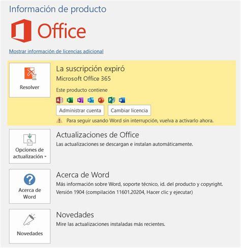 DESINSTALAR OFFICE 365  > INSTALAR OFFICE 2019   Microsoft ...