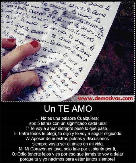 Desmotivaciones de Amor: Un TE AMO No es una Palabra ...