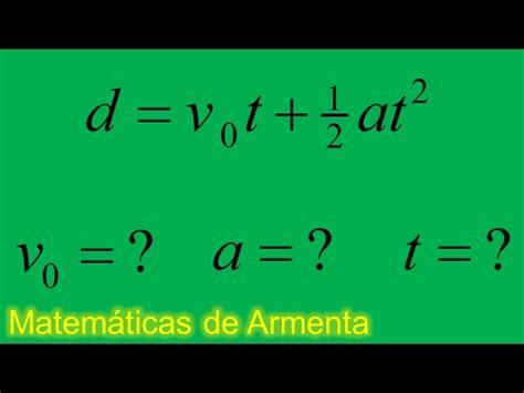 despeje de incognitas de formulas ejemplo 2 distancia ...