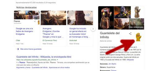 Destruye la mitad de Google con el Guantelete del Infinito ...