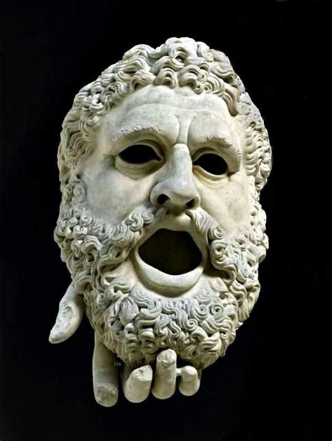 Detail : Mask of Tragedy from the Statue of Melpomene ...