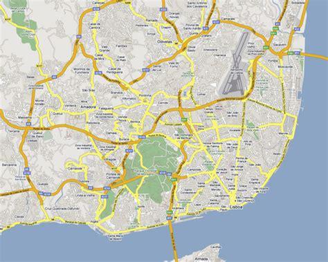 Detailed road map of Lisbon. Lisbon city detailed road map ...