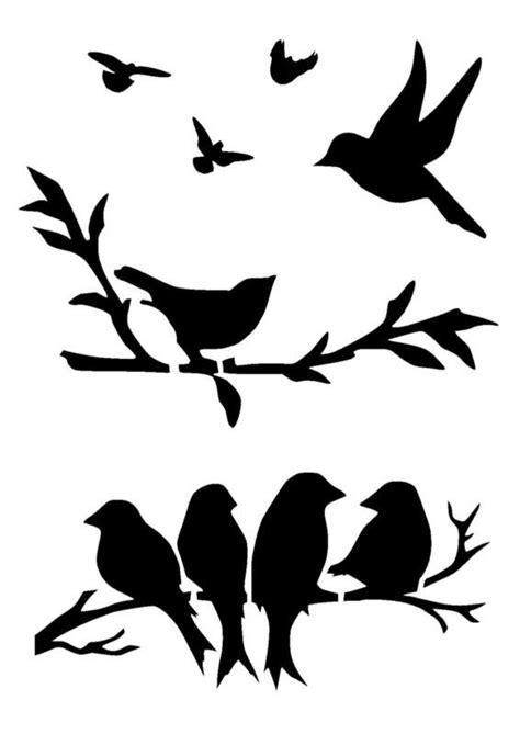 Details about birds stencil 3 craft,fabric,glass,furniture ...