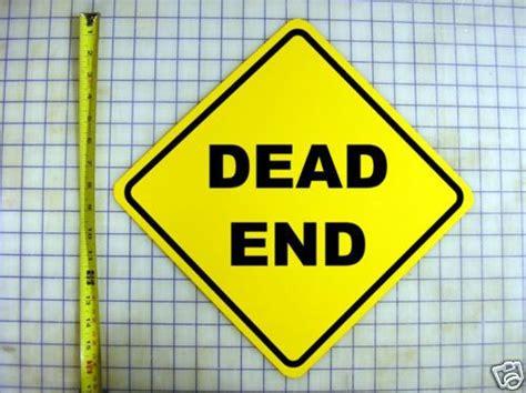 Details about DEAD END YELLOW ALUMINUM SIGN | Letras ...