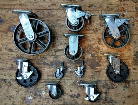 Details about Industrial furniture metal castors with cast ...