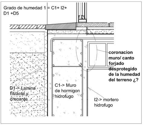 Detalle constructivo en la impermeabilización interior de ...