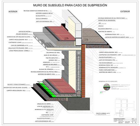 Detalle constructivo Muro de sótano   Construcciones I ...