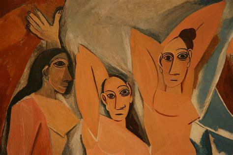 Detalle de las señoritas de Avignon de Picasso   MoMA  NYC ...