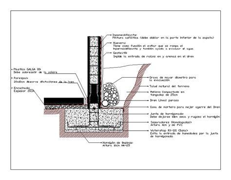 Detalle de muro de contencion en AutoCAD | CAD  98.64 KB ...