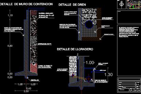 Detalle de muro de contencion en tunel  73.18 KB  | Bibliocad