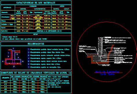 Detalle muro de contencion en AutoCAD | CAD  1.22 MB ...